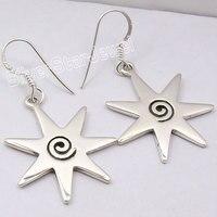 Chanti Quốc Tế RẮN Bạc ĐẸP XOẮN ỐC Dangle Earrings 4.3 CM NHÀ MÁY Đồ Trang Sức TRỰC TIẾP
