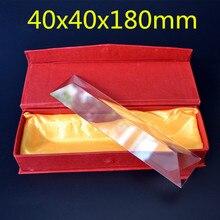 40x40x180 мм 40*40*180mm равносторонний треугольник K9 призма объектива для учение свет Specturm преломляется свет Радуга