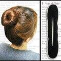 2 unids/lote Magia Esponja de la Espuma Hairdisk Pelo Donut de Las Mujeres Quick Messy Bun Updo Headwear MR0032