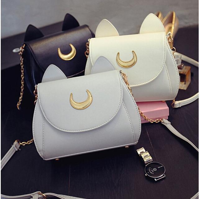 Fashion Kawaii Samantha Cute Sailor Moon Bag Ladies Handbag Cat Luna Moon Women Shoulder Messenger Crossbody Bag LL1086
