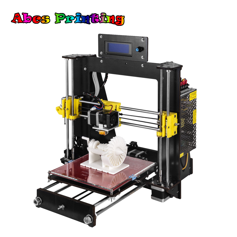 Abcs Printing 3D Printer Reprap Prusa i3 A8 Mother Board MK8 DIY Kit 3D Printer with 3pcs Filament 2016 upgrade free shipping 3d printer high precision reprap prusa i3 220 220 240mm 3d printer diy kit 0 5kg filament 8g sd card