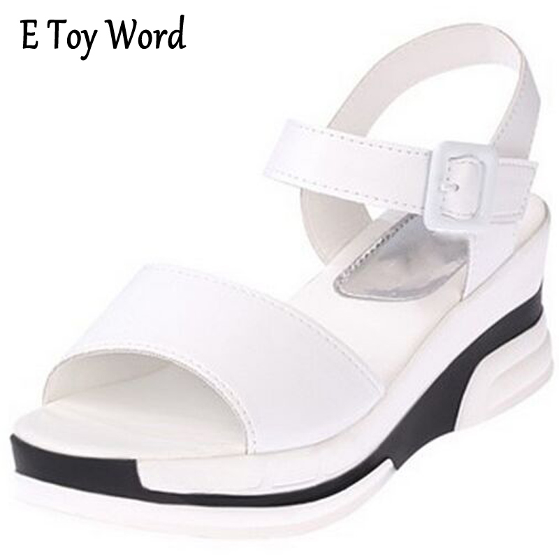 e8cde8d99a2806 2017 Summer shoes woman Platform Sandals Women Soft Leather Casual Open Toe  Gladiator wedges Trifle Mujer