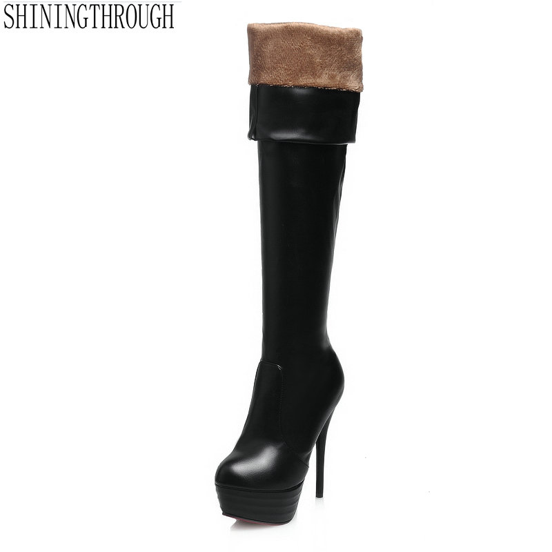 2018 Autumn Winter Women Boots Stretch Slim Thigh High Boots sexy Over the Knee Boots High Heels dancing Shoes Woman 20cm pole dancing sexy ultra high knee high boots with pure color sexy dancer high heeled lap dancing shoes