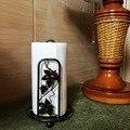 Creative American Vintage Metal Tissue Holder Free Standing Roll Paper Holder Round Tissue Holder Tissue Storage Rack Kitchen