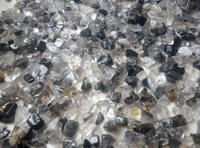 Tumbled Gemstone Crystal Natural Black Tourmaline Hair Quartz Rare 2.2lb 1000g Large