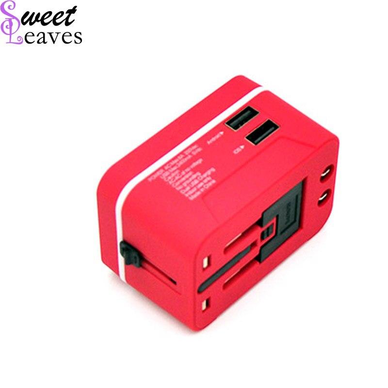 Electric Plug Power Multifunctional Travel Adapter International Plug Dual USB Charging Port Universal AC Socket China EU US
