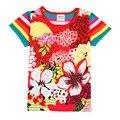 Новое прибытие розничные детей футболки мода novatx бренд летом стиль девочка футболка лето стиль причинно девушка одежда лук