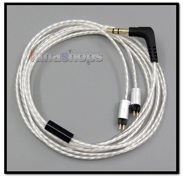 Lightweight Silver Plated 4N OCC Cable For Future Sonics EM6 mg6pro 13mm EM5 mg5pro 10mm