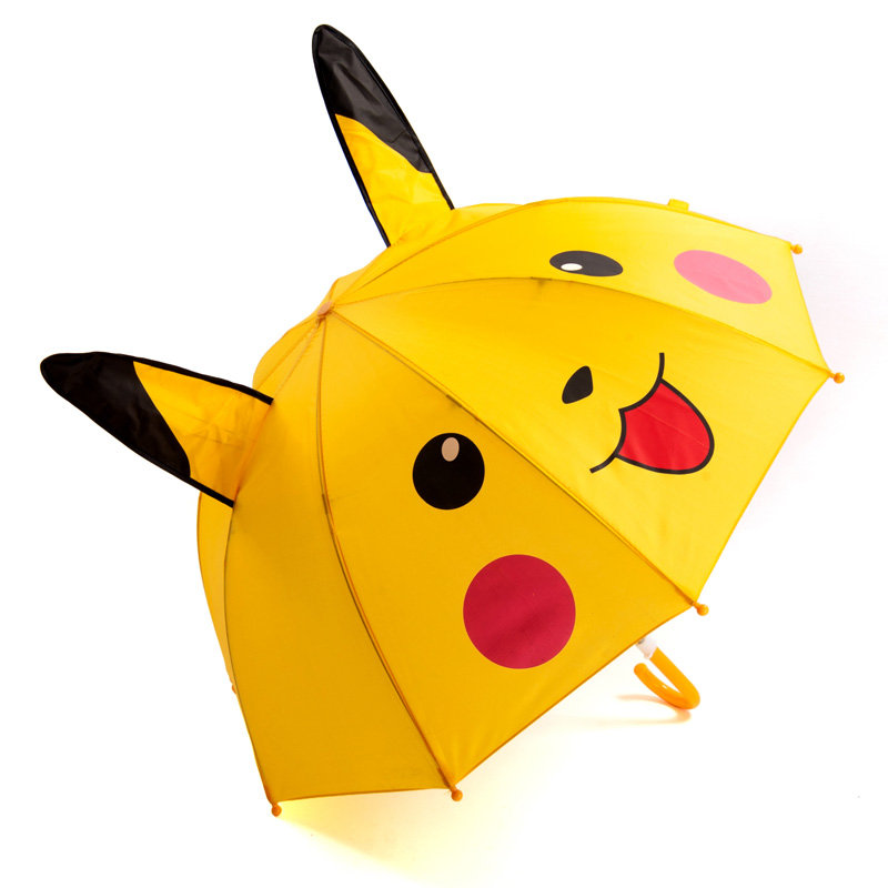Cute Cartoon Children Ultra Light Umbrella animation creative long-handled 3D ear modeling kids umbrella For boys girls Sun