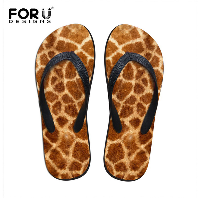 Unisex Non-slip Flip Flops Cute Animal Giraffe Cool Beach Slippers Sandal