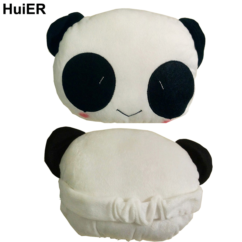 HuiER 1 PC Panda Car-styling Neck Headrest Supplies car-styling Auto Seat Covers Headrest for Neck Comfortable and Protection