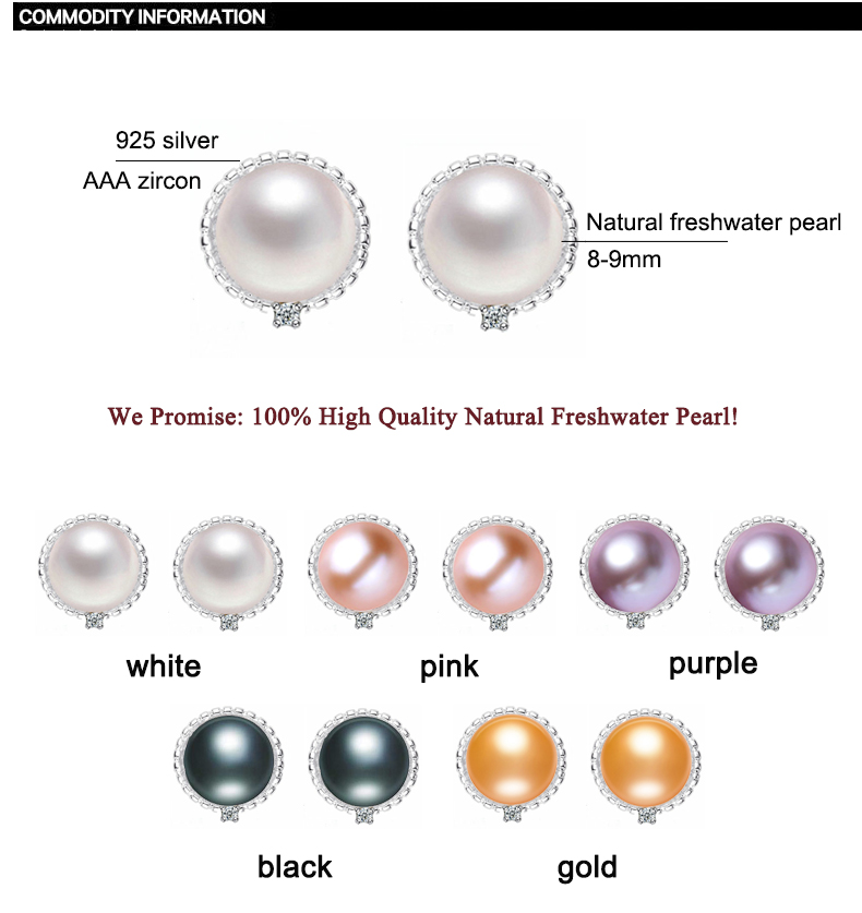 ZHBORUINI 2019 Fashion Pearl Örhängen Pearl Natural Freshwater - Fina smycken - Foto 6