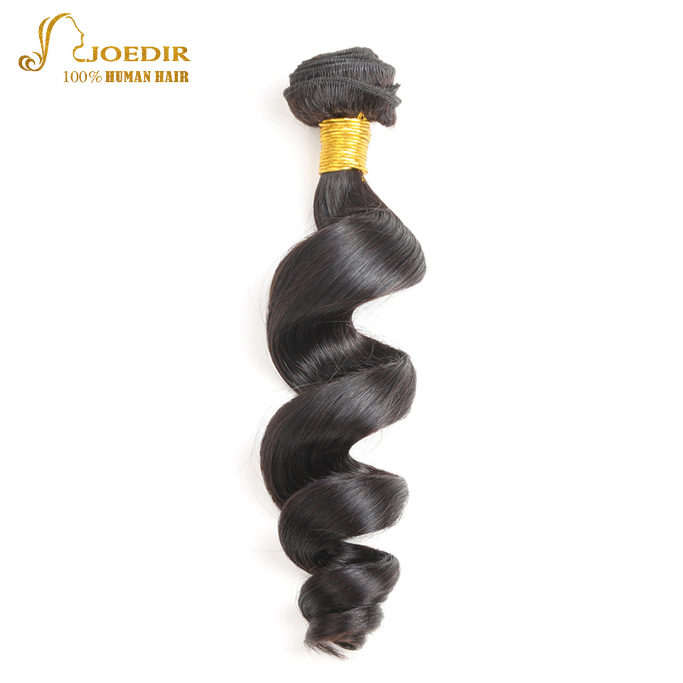 JOEDIR Hair Pre-Colored Brazilian Loose Wave Hair Bundles 10-26 Inch 100% Human Hair Extension Can Mix Any Length Non Remy