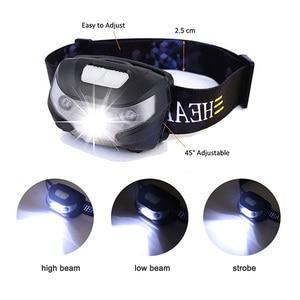 Image 2 - ZK20 4000LM Mini Sạc Đèn LED Đội Đầu Cơ Thể Cảm Biến Chuyển Động Xe Đạp Đầu Đèn Cắm Trại Ngoài Trời Đèn Pin