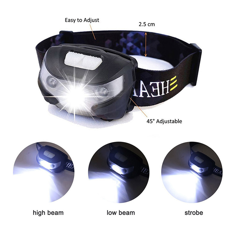 Image 2 - ZK20 Dropshipping  4000LM Mini Rechargeable LED Headlamp Body Motion Sensor Bicycle Head Light Lamp Outdoor Camping Flashlight-in Headlamps from Lights & Lighting