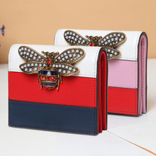 цены Womens Wallets and Purses Genuine Leather Short Wallet Women Luxury Brand Fashion Hasp Organizer Wallets Money Bag Dropshipping