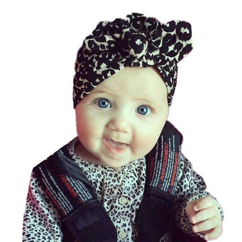 2019 Baby Headwear Toddler Girls Kids Bunny Rabbit Soft Cotton Bow Knot Turban Headband Hair Band Headwrap New