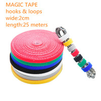 1PCS LOT YT1885 Magic Tape Strap Cable Tie Wide 2 Cm Length 25 Meters Nylon Strap