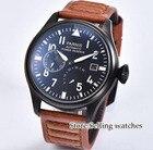 ✔  Мужские часы Parnis с автоподзаводом Военные часы Механический запас хода Топ 47мм Наручные часы Све ✔