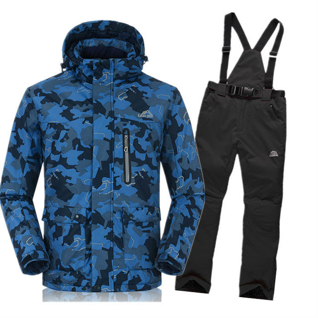 Cheap Free shipping new 2016 new high quality tuba Men's wear ski suits camouflage ski Jackets waterproof windproof suit clothes pants