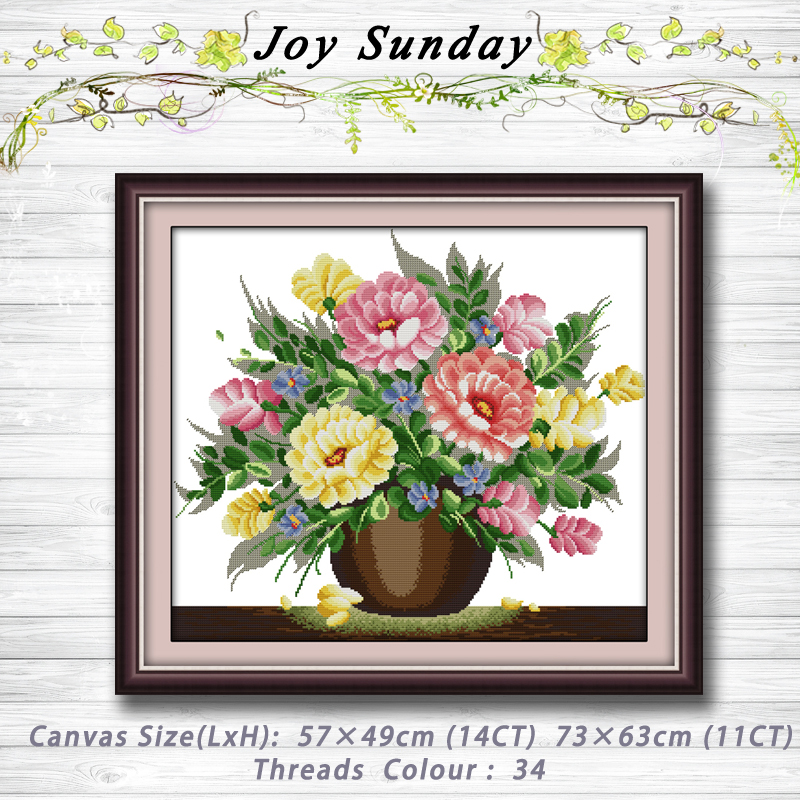 Liquid powder flower vase Patterns Counted Cross Stitch 11CT 14CT Cross Stitch Sets Handmade Embroidery Needlework Home decor