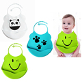 New Design Baby Bibs Silicone Feeding Baby Saliva Towel Wholesale Newborn Cartoon Waterproof Aprons Baby Bibs