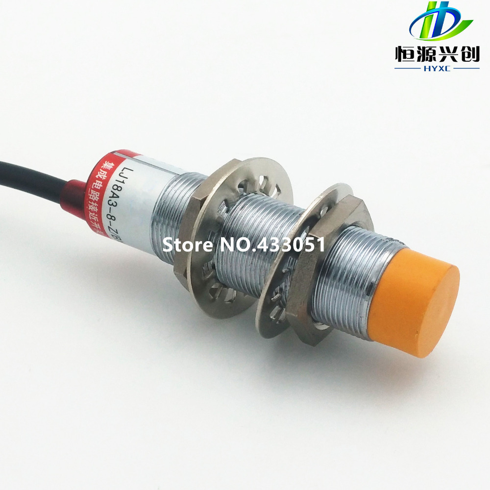 цены  M18 LJ18A3-8-Z/BX 8mm sensing DC NPN NO prism shape inductive Screen shield type proximity switch LJ18A3 series proximity sensor