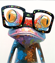 Abstract animals frog with glasses Oil Painting picture By Numbers module Picture Coloring by hand Unique Gift Home Decoration