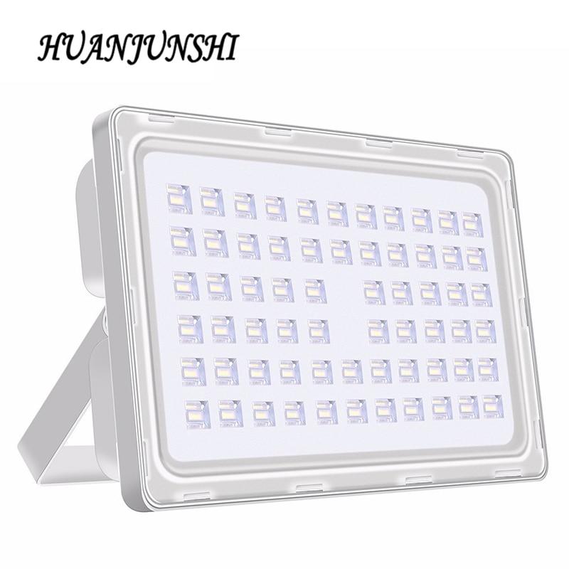अल्ट्रा पतली 200W आउटडोर प्रकाश एसएमडी एलईडी बाढ़ रोशनी 220V 18000lm निविड़ अंधकार एलईडी आउटडोर लैंडस्केप गार्डन फ्लडलाइट 5pcs / बहुत