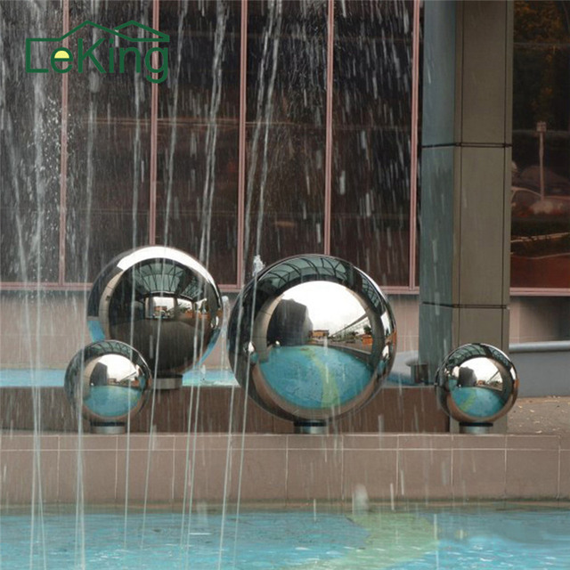 150mm~300mm Stainless Steel Hollow Ball Mirror Polished Shiny Sphere For  Outdoor Home Garden Decoration