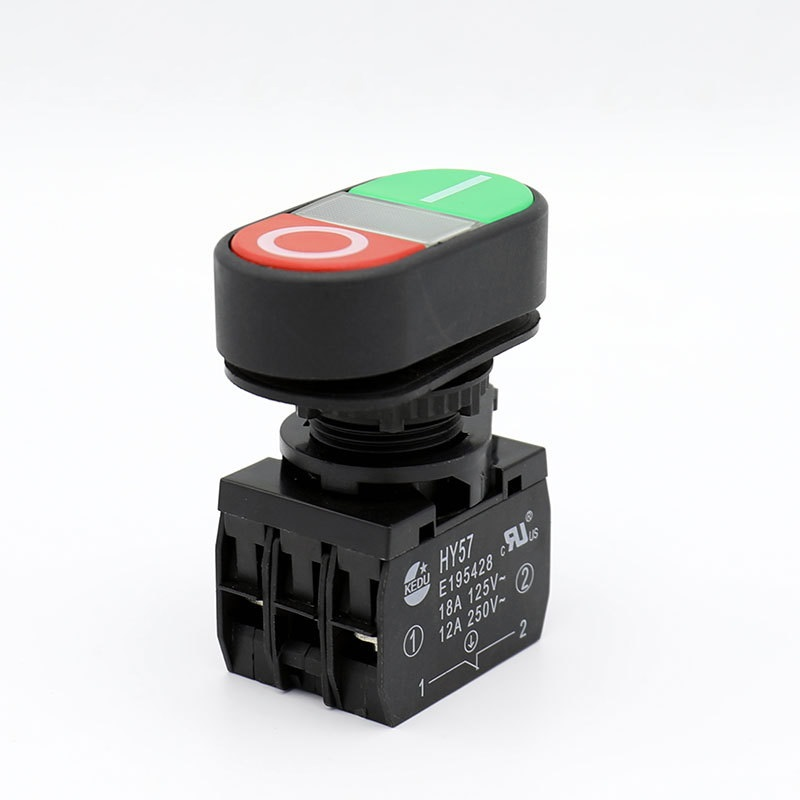 2pcs Industrial Electrical Pushbutton Push Button Switches with Power Off Function, 250V/12A, 125V/18A, HY57 on off start stop push button pushbutton switch 87x56mm with dust cover