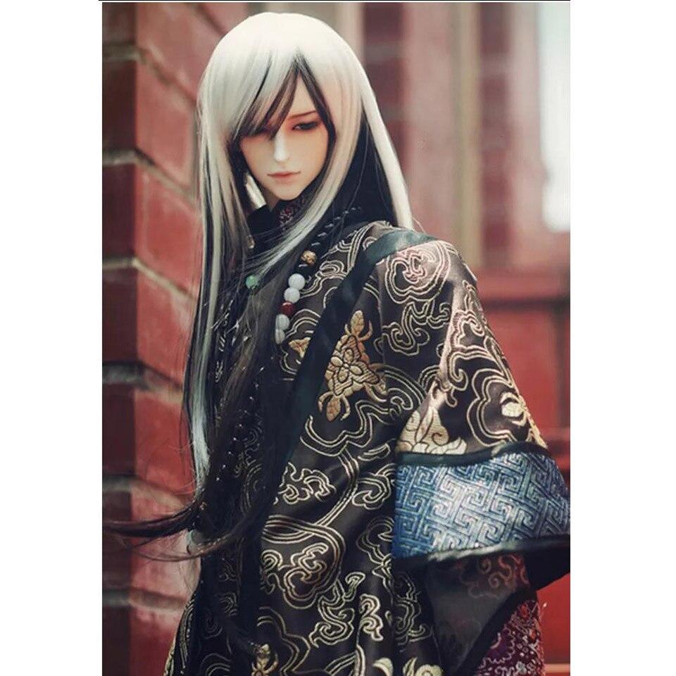 NEW 1//3 1//4 BJD SD MSD Doll Accessories C brown Stripe Wool Scarf length 70-80CM