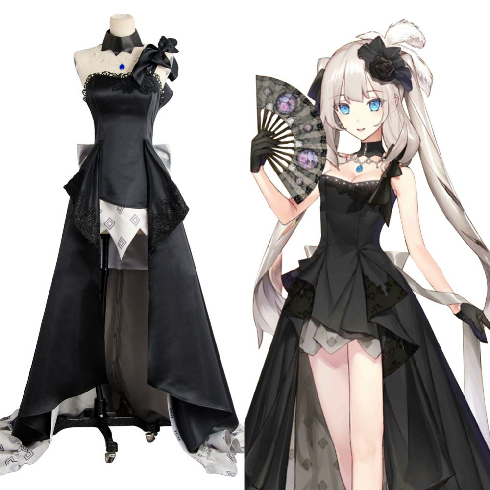 Fate Grand Order Rider Marie Antoinette Black Ball Gown