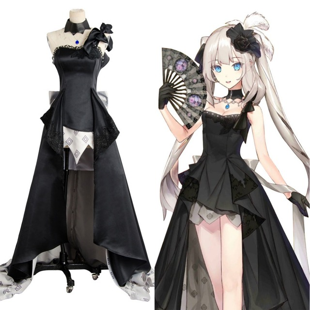 Fate/Grand Order Rider Marie Antoinette Black Ball Gown Dress ...