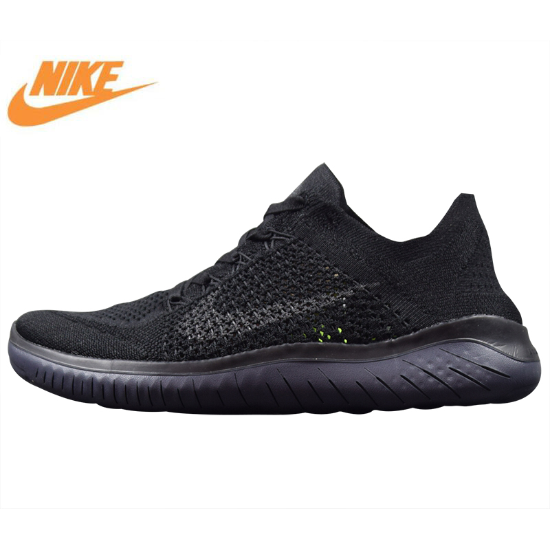 Nike Free Rn Flyknit Men's Running Shoes, New High Quality Outdoor Sports Shoes Breathable Lightweight Shock Absorbing кроссовки nike free flyknit 4 0 631053 601