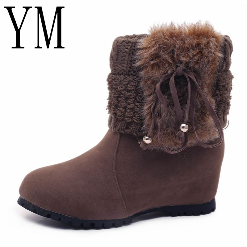 Invierno Nieve Caliente Flock Cuña Suede 051 De Muslo Botas Moda brown Otoño Zapatos 39 La Venta Mujeres Mitad Negro Pantorrilla naranja 0dqwXx