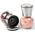 1PCS Stainless Steel Glass Pepper Mill Standard Spice Salt Pepper Grinder Kitchen Accessories Cooking Tools