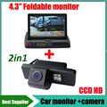 "For Citroen C4 C5 C-QUATRE Peugeot 408 NISSAN X-TRAIL Sunny Dualis Navara Juke Car rear view parking camera + 4.3"" car monitor"