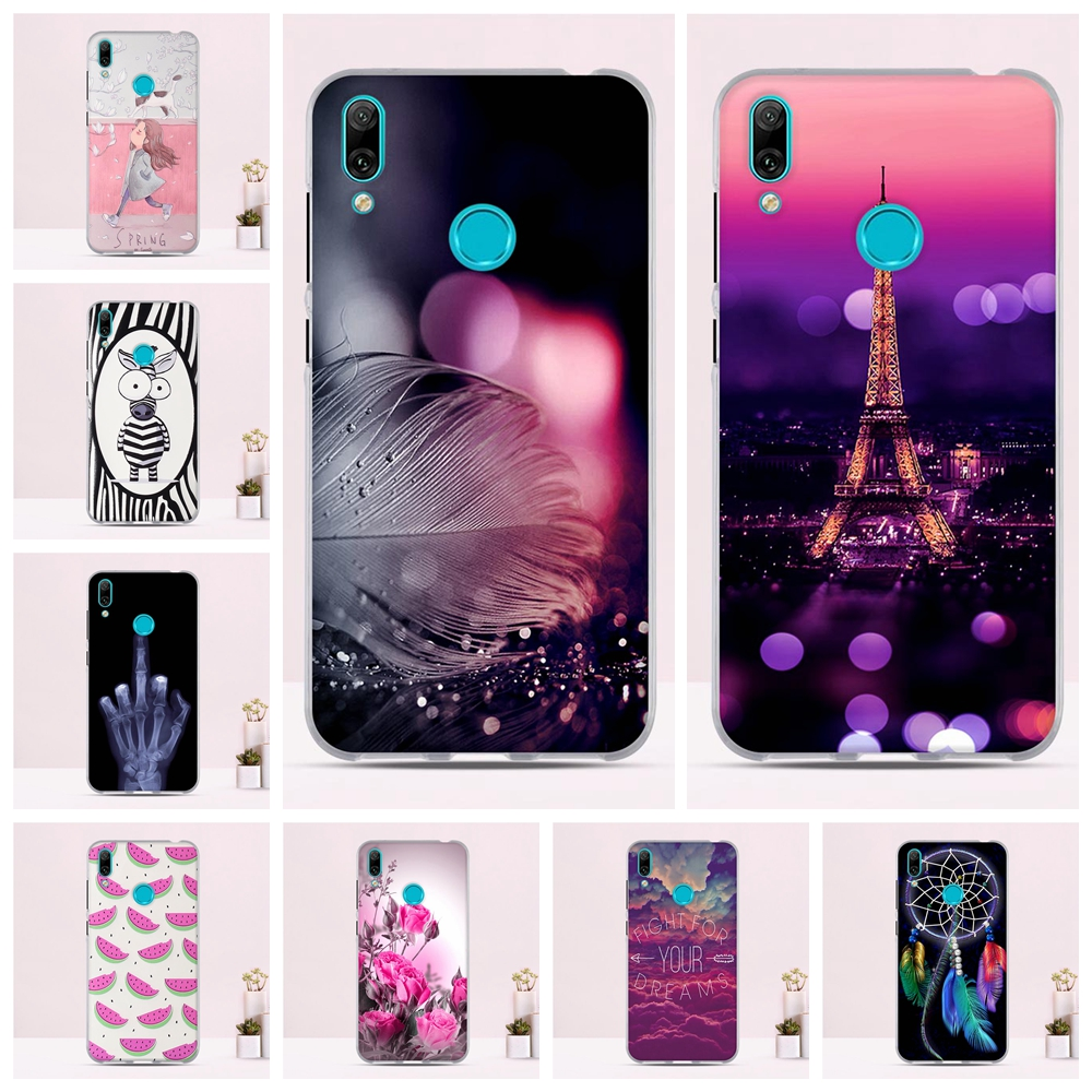 US $0 93 15% OFF|Phone Case For Huawei Y7 2019 Case Silicone Soft TPU  Bumper For Huawei Y7 2019 Cover Funda For Huawei Y7 Prime 2019 Case  Cover-in