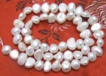 Perle BAROQUE d'eau douce blanche naturelle, 5 pièces, 4-5mm, en vrac, 14 pouces, livraison gratuite, photo de qualité à la mode