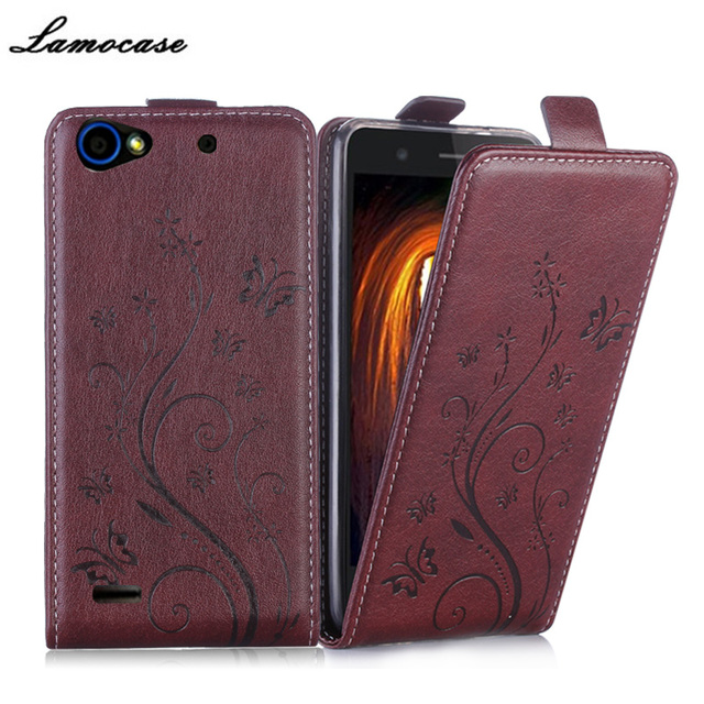 For ZTE Blade L4 T610 Case Flip Luxury Leather Cover For ZTE L4 A460 Phone Bags Protective Embossing Fundas Coque Capa