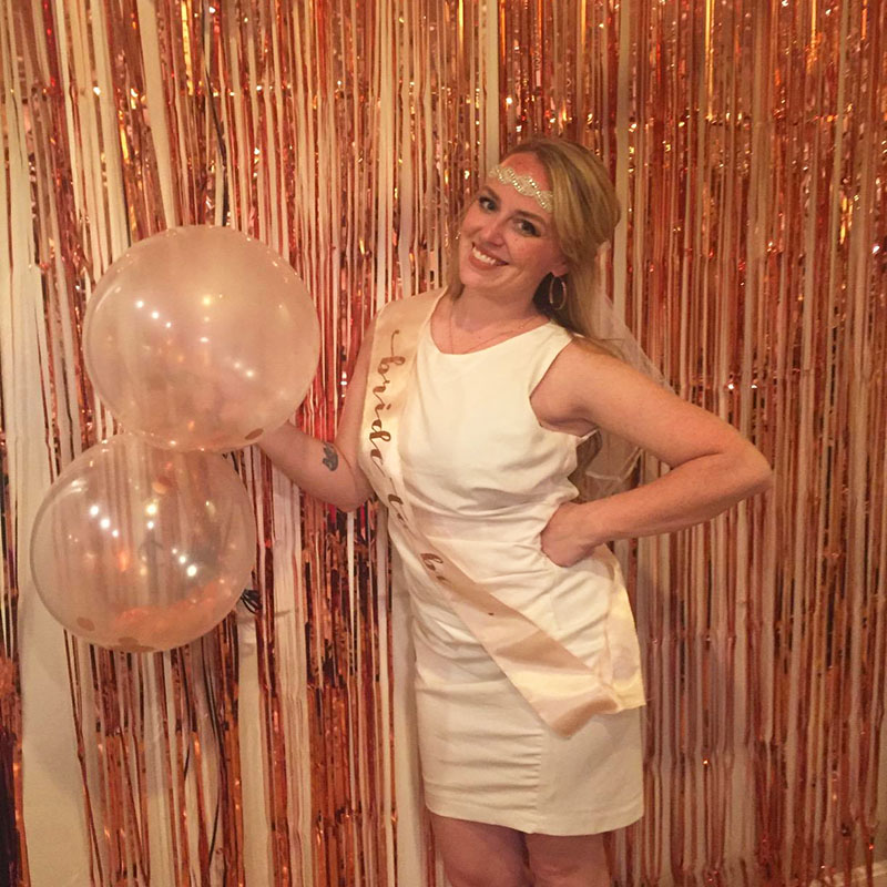 Image 3 - 1M 2M Rose Gold Metallic Foil Tinsel Fringe Curtain Door Rain Wedding Decoration Birthday Party Backdrop Background Photo Props-in Party Backdrops from Home & Garden