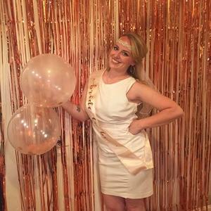 Image 3 - 1M 2M Rose Gold Metallic Foil Tinsel Fringe Curtain Door Rain Wedding Decoration Birthday Party Backdrop Background Photo Props