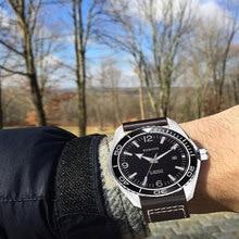 цена 45mm Parnis Waterproof Diver Automatic Watch Mechanical Watches Ceramic Rotatig Bezel 5ATM Sapphire Glass Wrist Watch Men Gift онлайн в 2017 году