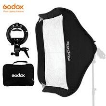 GODOX 40x40/50x50/60x60/80x80 centimetri Softbox con S tipo di Staffa Stabile Bowens Mount Flash Staffa di Montaggio Pieghevole Softbox Kit