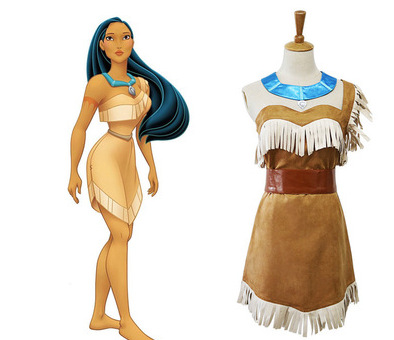 631babcb42a US $16.77 19% OFF|Girls Bueaty Princess Pocahontas Indian Cosplay Costume  Halloween Outfit Adult Women gift-in Anime Costumes from Novelty & Special  ...