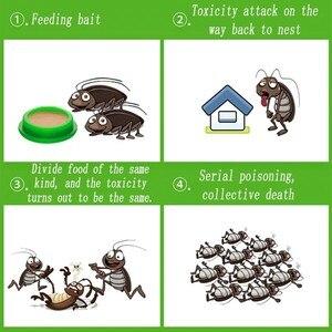 Image 5 - Простая и эффективная гелевая приманка для уничтожения тараканов, от тараканов, репеллент, борьба с вредителями, 12 шт./1 коробка