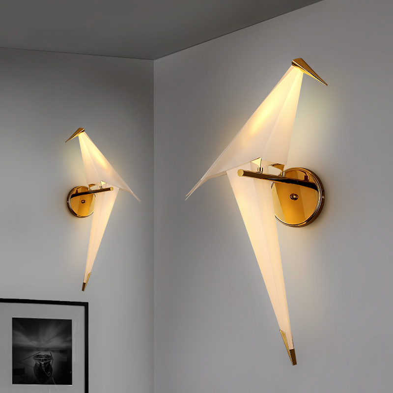 Post-modern LED living room wall sconces novelty aisle lighting nordic fixtures loft bird wall lamps bedroom bedside wall lights led modern aisle wall sconces living room wall lights nordic restaurant lighting bedroom fixture novelty stairs wall lamps