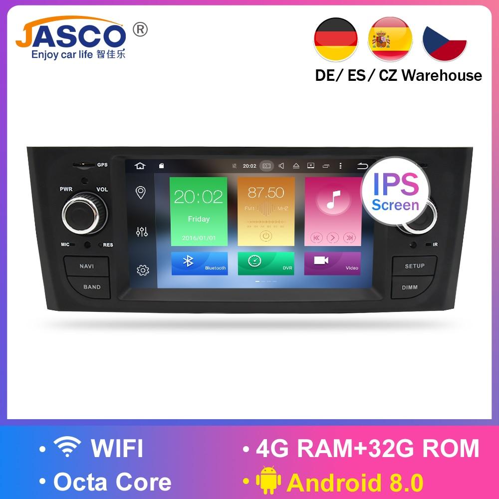 Android 8.0 4G RAM Car DVD Stereo Headunit For Fiat Grande Punto Linea 2007 2008 2009 2010 2011 2012 Auto radio GPS Navigation