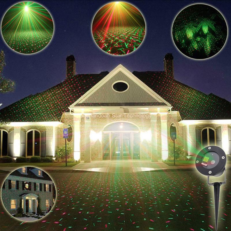 ESHINY Outdoor R&G Laser Full Stars Projector gala Landscape Dance Disco Bar Xmas Garden Lawn Party Tree DJ Effect Light xl2